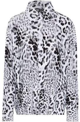 Norma Kamali Leopard-Print Jersey Blouse