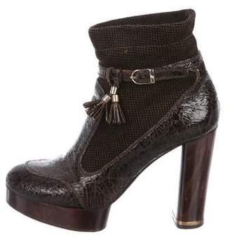 Stella McCartney Vegan Patent Leather Ankle Boots