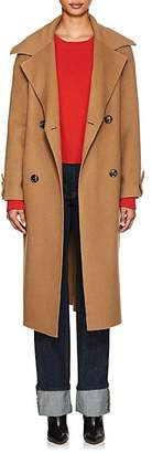 THE LOOM Women's Brushed Wool-Alpaca Double-Breasted Coat