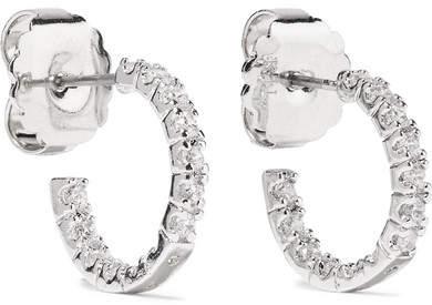 Kenneth Jay Lane - Rhodium-plated Cubic Zirconia Earrings - Silver