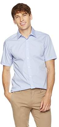 Clifton Heritage Men's Slim Fit Short-Sleeve Spread Collar Button-Up Shirt XL