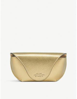 Smythson Panama cross-grain leather sunglasses case