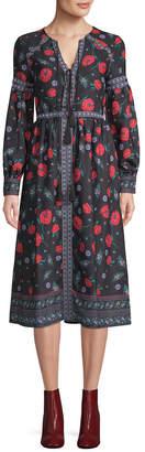 Endless Rose Zinnia Printed Midi Dress