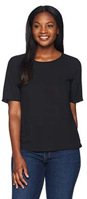 Lark & Ro Women's Short Sleeve T-Shirt Blouse