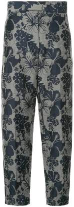 Stella McCartney floral print high-waisted trousers