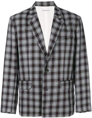 Gosha Rubchinskiy plaid fitted blazer