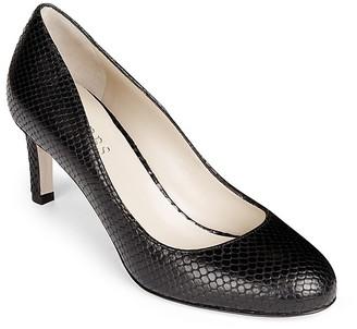HOBBS LONDON Sophia Snake Embossed Court Pumps $285 thestylecure.com