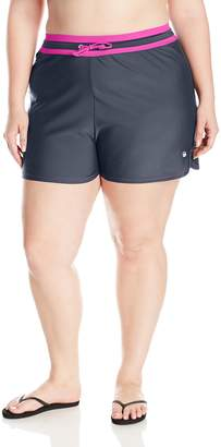 Free Country Women's Plus Size Swim Short with Drawstring