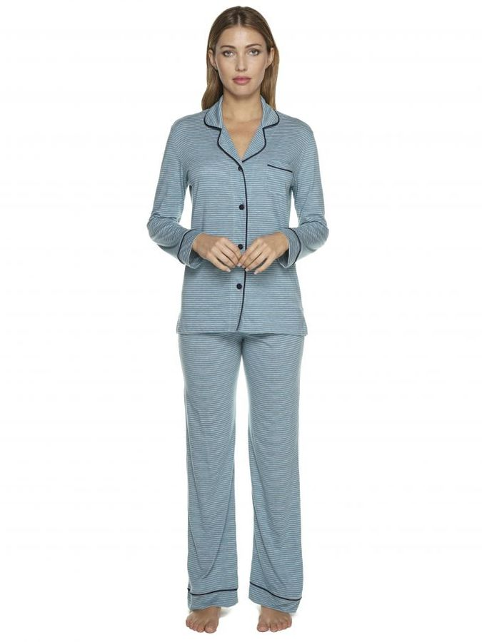 CosabellaBella Stripe Longsleeve Top & Pant Pajama Set
