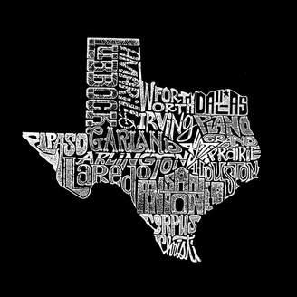 The Great LOS ANGELES POP ART Los Angeles Pop Art Women's Raglan Word Art T-shirt State of Texas