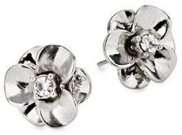 Kate Spade Shine On Silvertone Flower Stud Earrings
