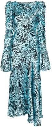 De La Vali Clementine printed maxi dress