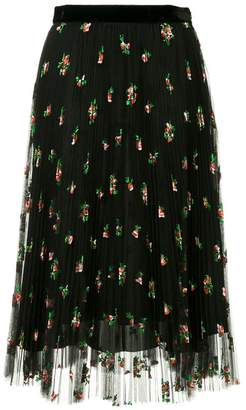 Philosophy di Lorenzo Serafini floral pleated skirt