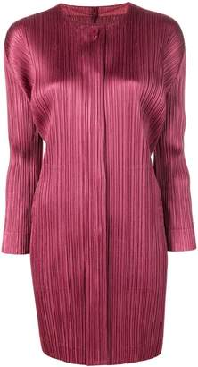 Pleats Please Issey Miyake micro pleated coat