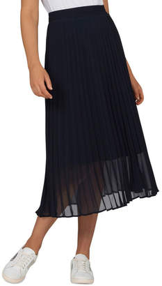 French Connection Navy Pleat Skirt
