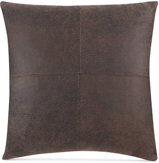 """Sure Fit Stretch Faux Leather 18"""" x 18"""" Throw Pillow"""