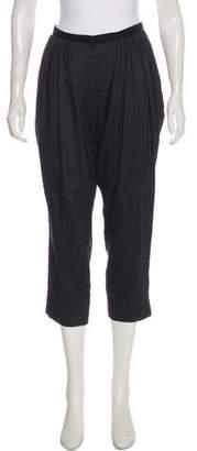 Haider Ackermann High-Rise Linen-Blend Pants