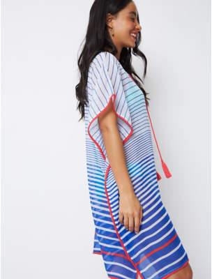43737a6eb2 George Blue Stripe Ombre Kaftan Cover Up