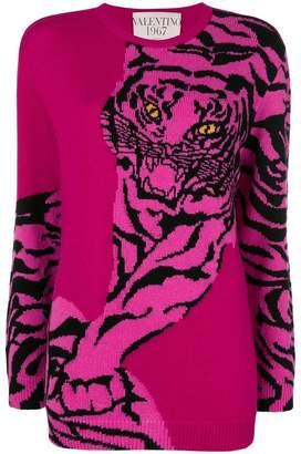 Valentino tiger intarsia sweatshirt