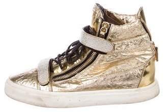 Giuseppe Zanotti Strass Metallic Sneakers