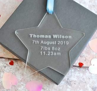 Sweet Pea Design New Baby Acrylic Star Decoration