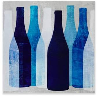 INK+IVY Pop Bottles Printed MDF Box Wall Art in Blue