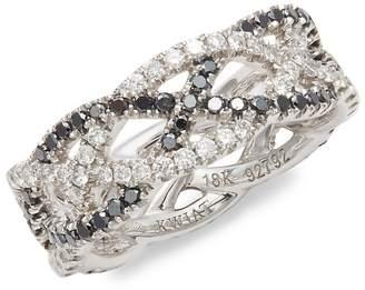 Kwiat Women's Twist Diamond & 18K White Gold Wedding Ring
