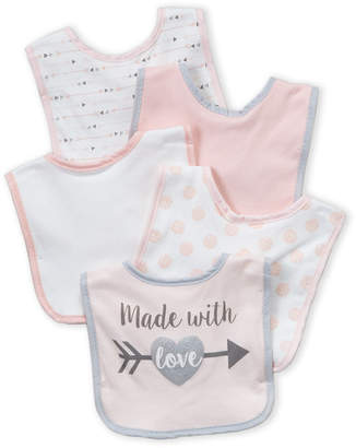Baby Essentials Chick Pea (Newborn/Infant Girls) 5-Pack Made With Love Bibs