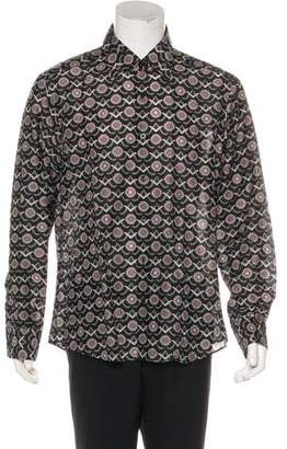 Gucci Silk-Blend Abstract Patterned Shirt
