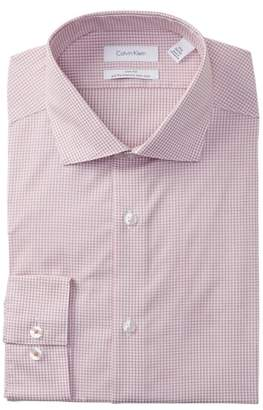 Calvin Klein Antibes Check Slim Fit Dress Shirt
