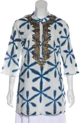 Figue Embroidered Three Quarter Tunic