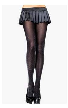 Leg Avenue Silver Lurex Opaque Tights Adult Halloween Accessory, One Size, (4-14)