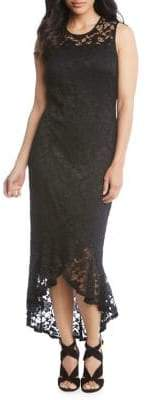 Karen Kane Long Fitted Sheath Dress