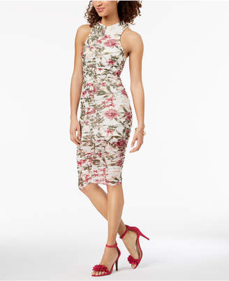 Material Girl Juniors' Ruched Bodycon Dress, Created for Macy's