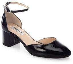 LK Bennett Andrea Patent Leather d'Orsay Ankle Strap Pumps