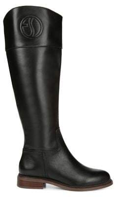 Franco Sarto Hudson Leather Wide-Calf Tall Boots