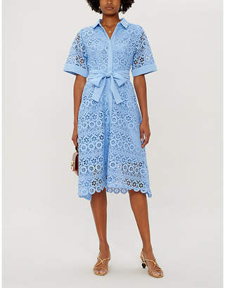 Maje Embroidered guipure-lace dress