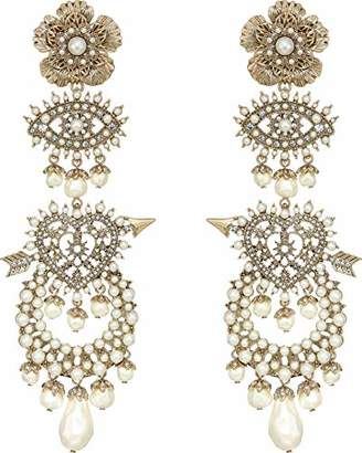 Marchesa Women's White Drama Chandelier Drop Earrings