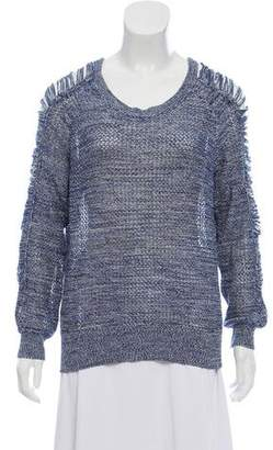 IRO Scoop Neck Cut-Out Sweater