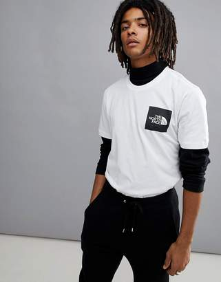 The North Face Fine Box Logo T-Shirt In White