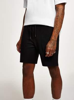Topman Black Twill Jersey Shorts