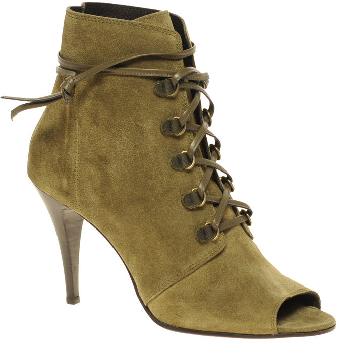 IRO Peep Toe Lace Up Shoe Boot