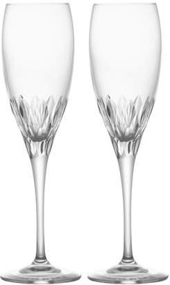 Mikasa Set of 2 Crystal Champagne Flute Glasses