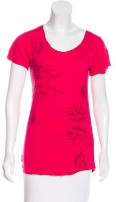 L'Wren Scott Floral Print Short Sleeve Top