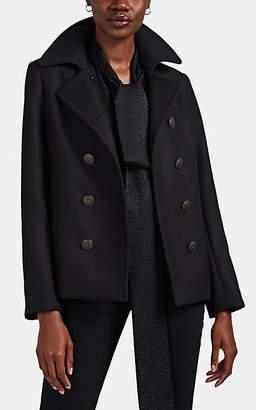 Nili Lotan Women's Nadine Wool Crop Peacoat - Black