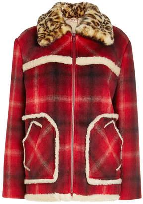 N°21 N21 Printed Jacket with Faux Fur Collar