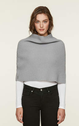 Soia & Kyo AVIA knit mock neck warmer with slit