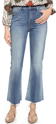 MOTHER The Hustler Ankle Fray Jeans $218 thestylecure.com