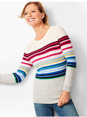 Talbots Stripe Crewneck Sweater
