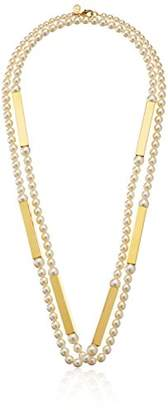 Ben-Amun Jewelry Modern 24k Gold-Plated and Faux-Pearl Strand Necklace